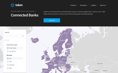 Screenshot von Token Interaktive Weltkarte